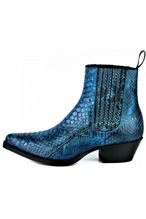 EXOTIC ANKLE BOOTS MARIE NAPPA (blue)