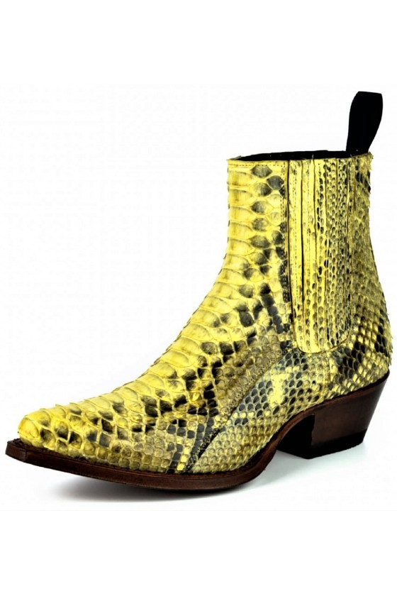 EXOTIC ANKLE BOOTS MARIE NAPPA (yellow)