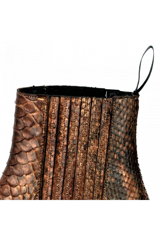 EXOTIC ANKLE BOOTS MARIE NAPPA (cognac)