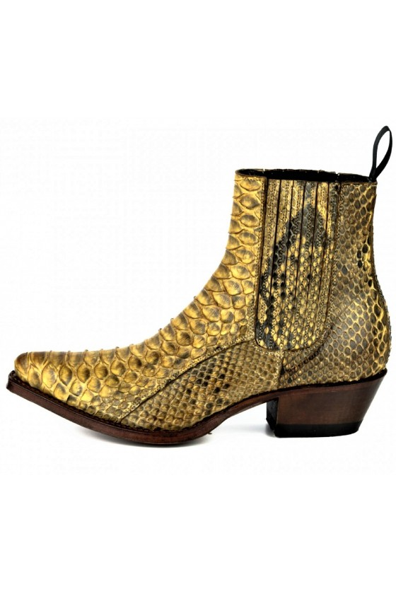EXOTIC ANKLE BOOTS MARIE NAPPA (cuervo)