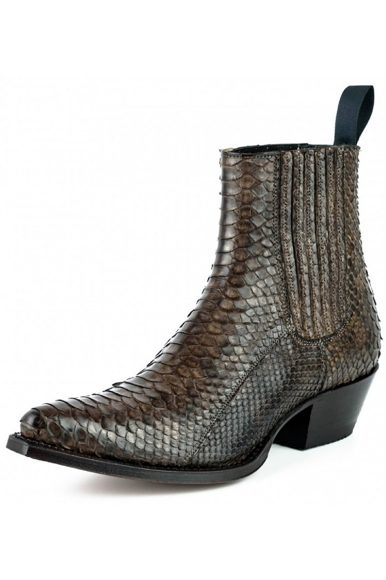 EXOTIC ANKLE BOOTS MARIE NAPPA (marron)