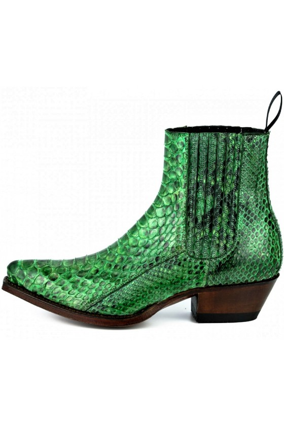 EXOTIC ANKLE BOOTS MARIE NAPPA (green)