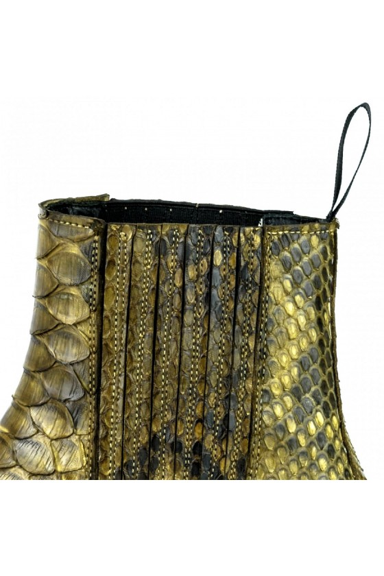 EXOTIC ANKLE BOOTS MARIE NAPPA (green kaky)