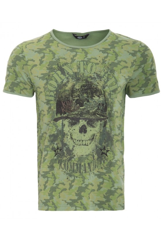 T-SHIRT BORN TO KILL (green)