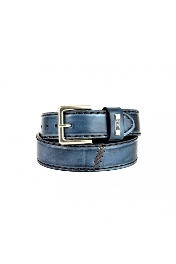 LEATHER BELT M-925 (blue)
