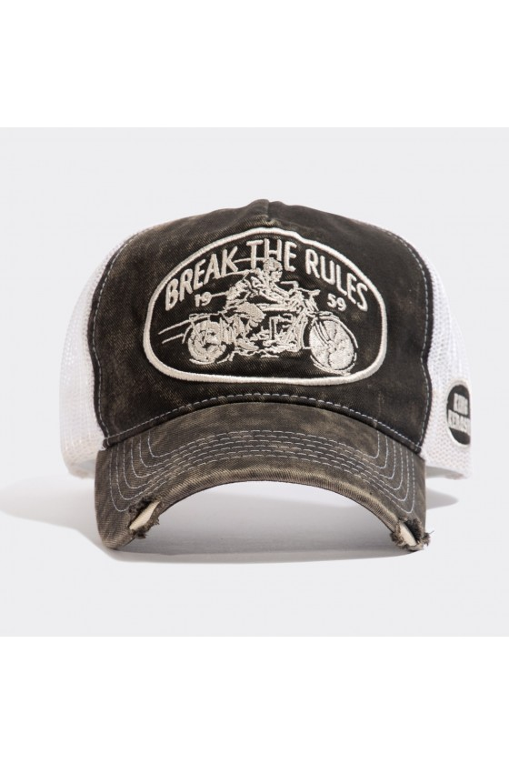 TRUCKER CAP BREAK THE RULES (vintage black)