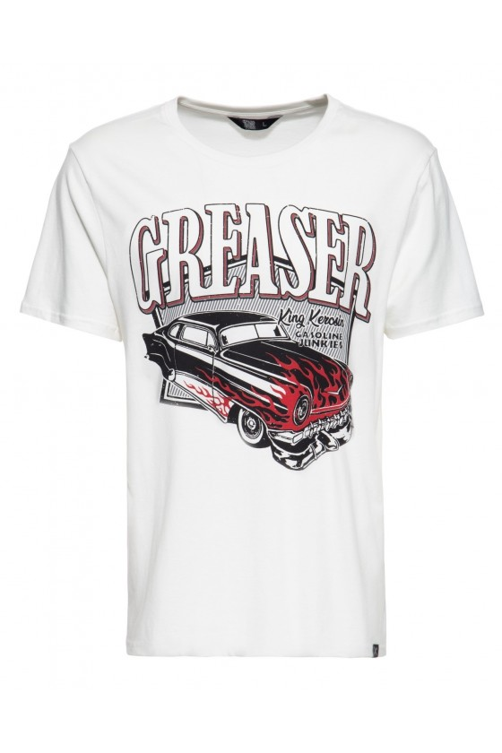 COOL VINTAGE T-SHIRT GASOLINE JUNKIES (white)