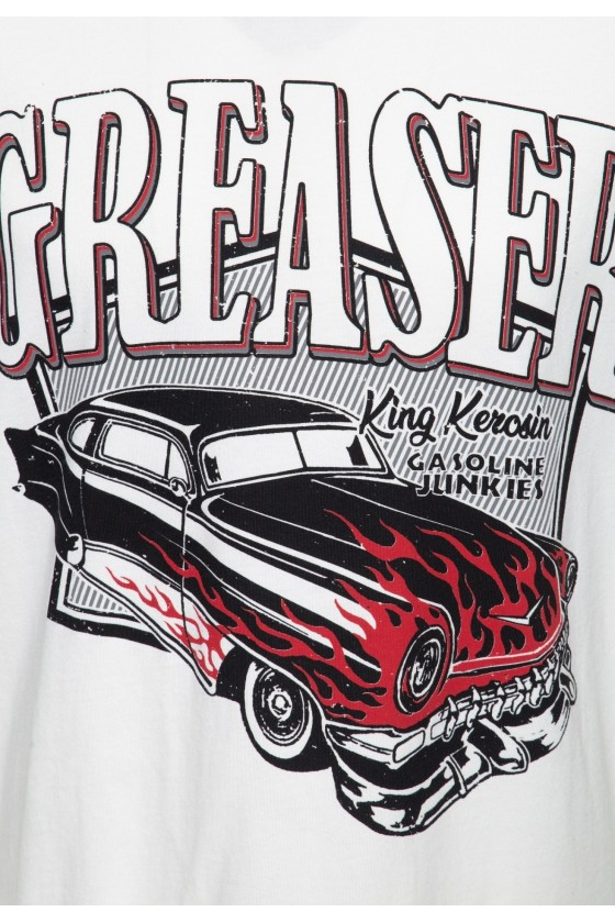COOL VINTAGE T-SHIRT GASOLINE JUNKIES (off-white)