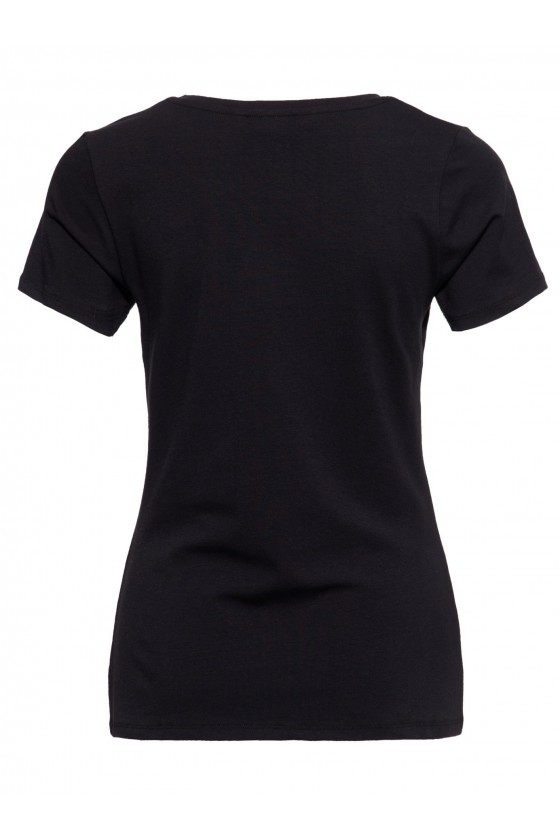 SLIM FIT T-SHIRT GIRL GANG (black)