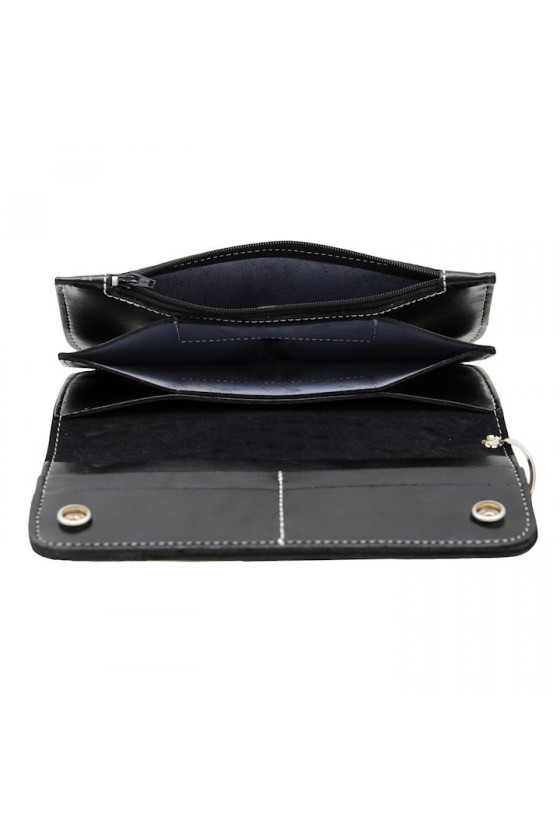 LEATHER WALLET CROWN (black)