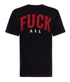 T-SHIRT SINNERS FUCK ALL (black)