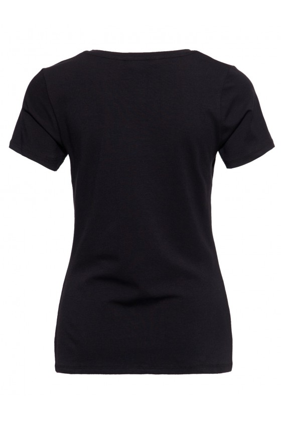V-NECKLINE T-SHIRT WASP QUEEN (black)