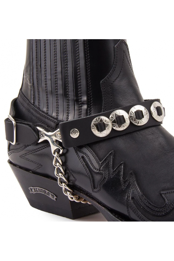 BOOT STRAPS WITH DECORATION (black)
