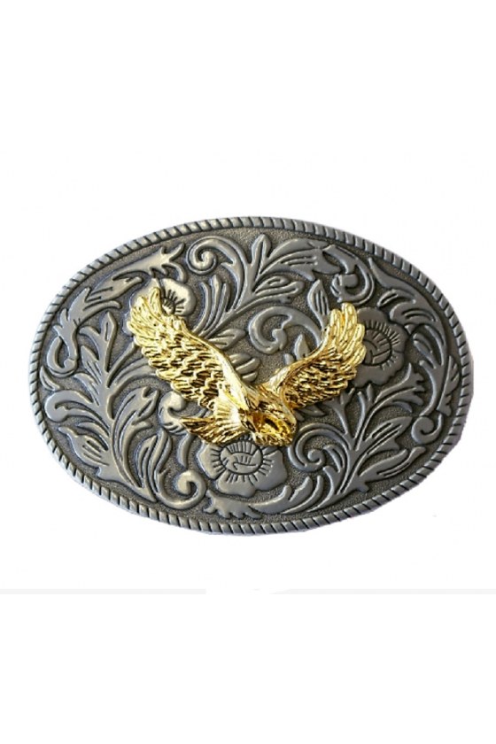 Belt Buckle with Golden Eagle