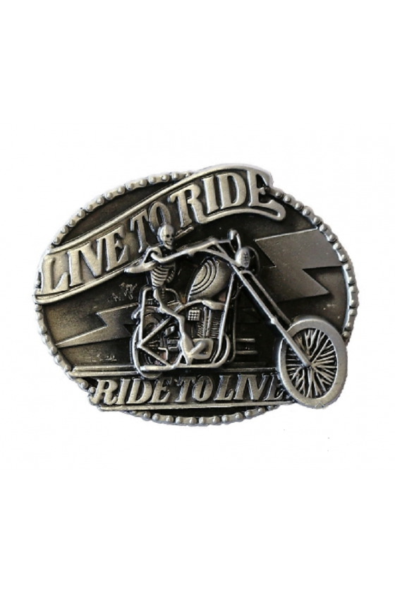 Belt Buckle Live To Ride