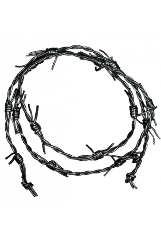 Leather Barbed Wire 1 m (black)