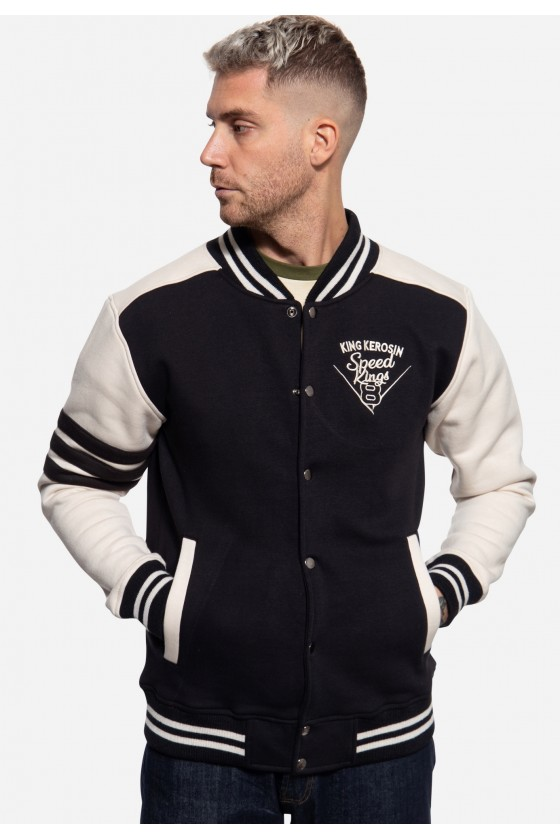 COLLEGE SWEAT JACKET SPEED ​​KINGS (black)