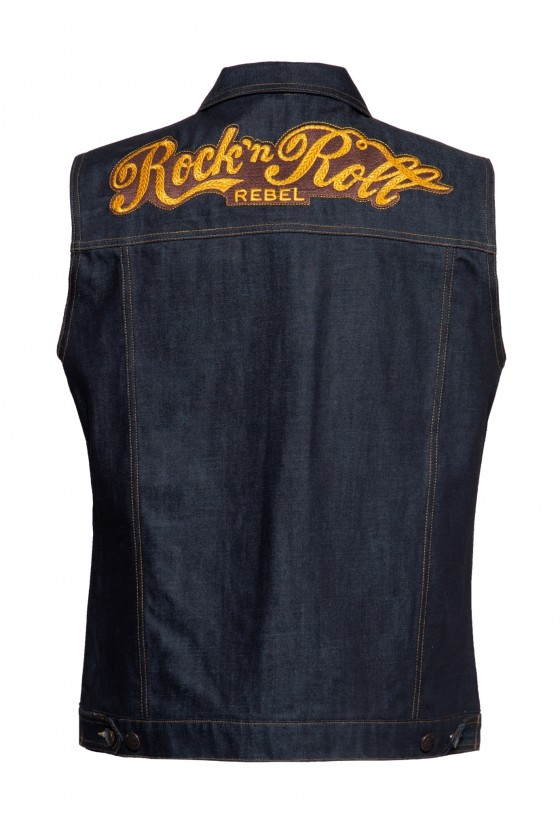DENIM VEST RNR REBEL (dark blue)
