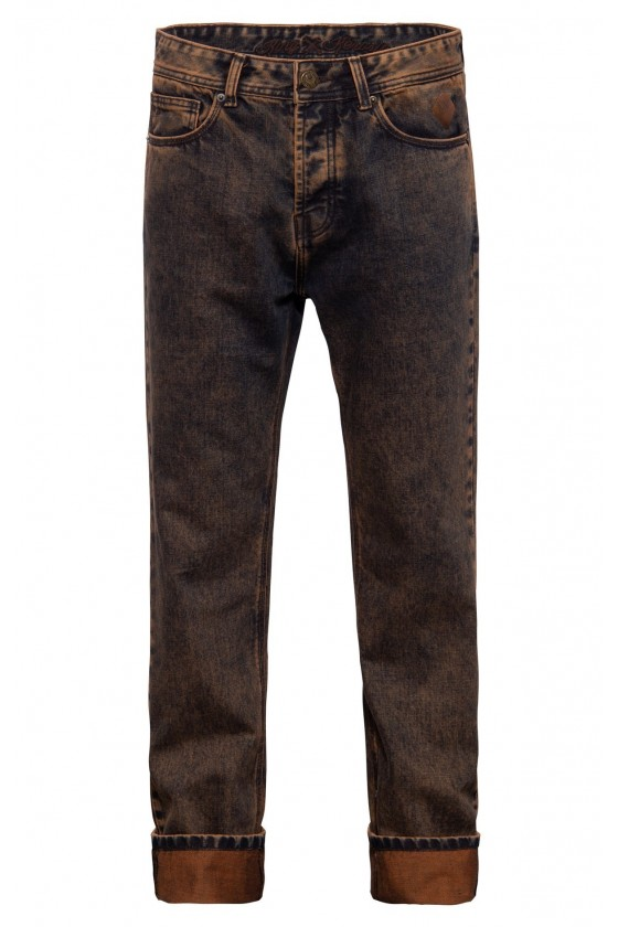 MEN'S TINT WASH JEANS SCOTT (rust brown)