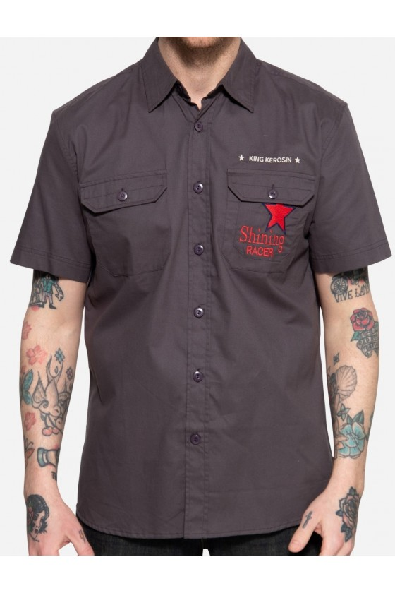 WORKWEAR SHIRT SHINING RACER (steel gray)