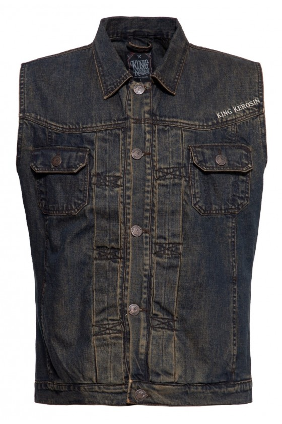DENIM VEST MOTOR STATE (dark blue)