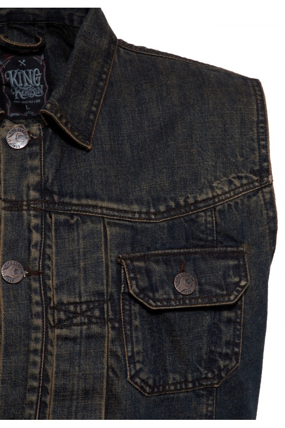 DENIM VEST MOTOR STATE II (dark blue)