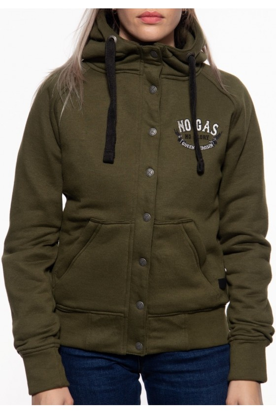 ADVENTURE GEAR SWEAT JACKET NO GAS NO GLORY (olive)