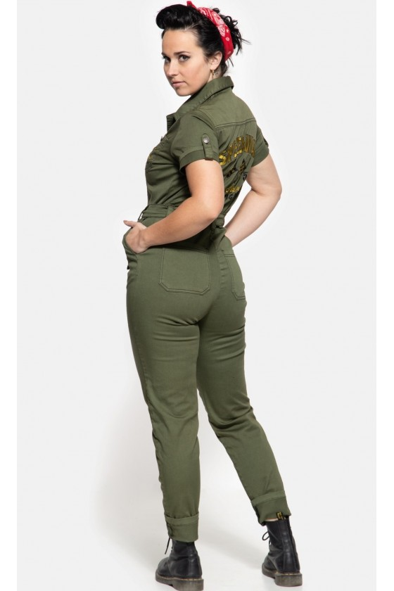 SPEEDWAY SERVICE WORKWEAR OVERALL (olive)