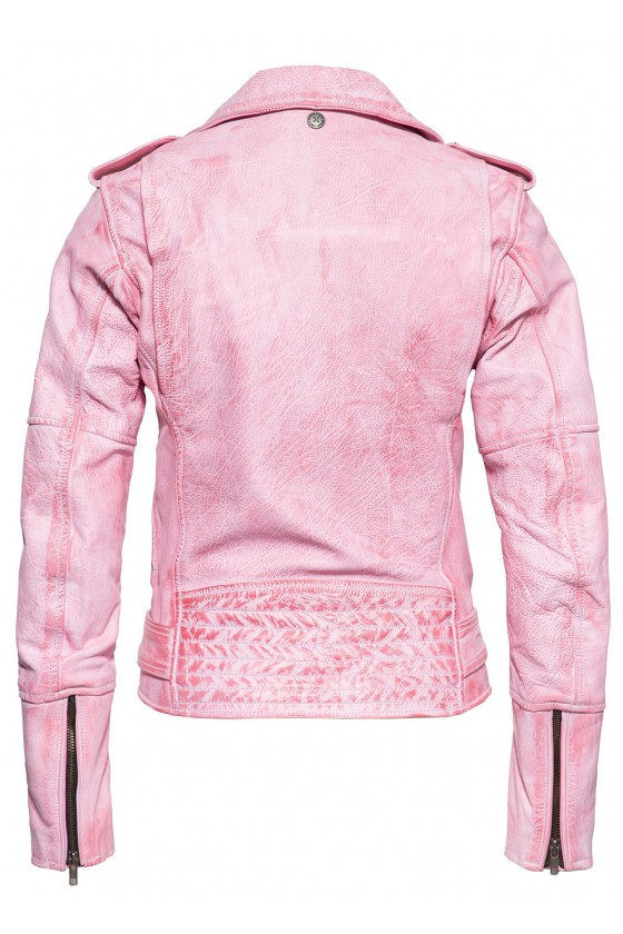 ROCK STYLE LEATHER JACKET (pink)