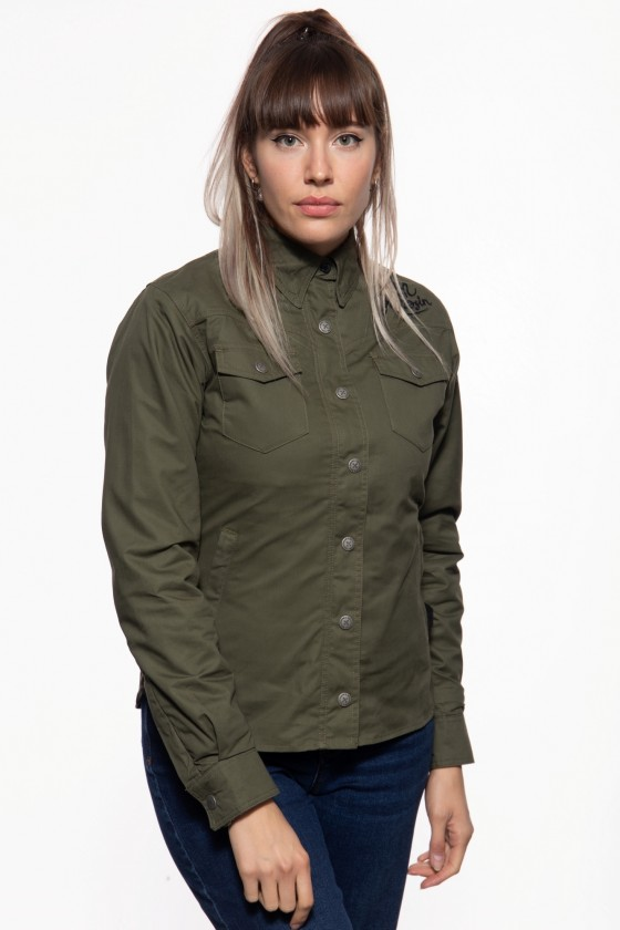 LADIES FUNCTIONAL OUTDOOR SHIRT ALIVE FREE (olive)