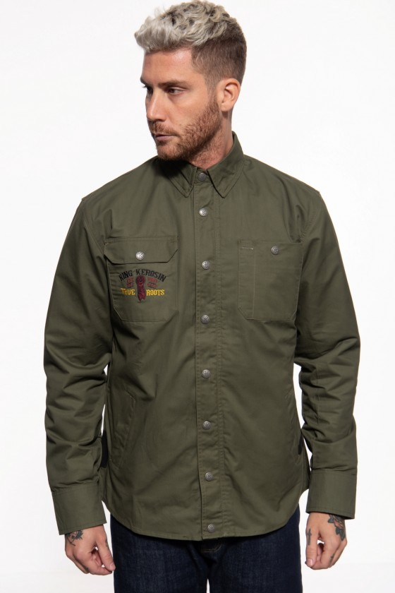 OUTDOOR FUNCTIONAL SOFTSHELL LINED SHIRTJACKET INDIAN RIDER (olive)