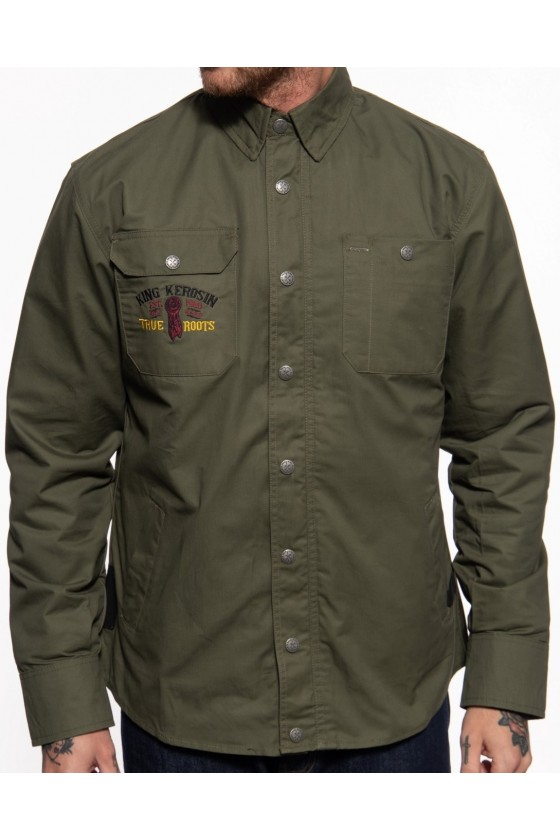 OUTDOOR FUNCTIONAL SOFTSHELL LINED SHIRT INDIAN RIDER (olive)
