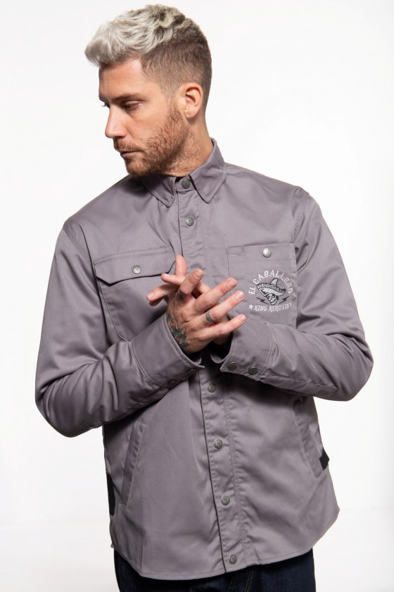 OUTDOOR FUNCTIONAL SOFTSHELL LINED SHIRT-JACKET EL CABALLERO (anthracite)