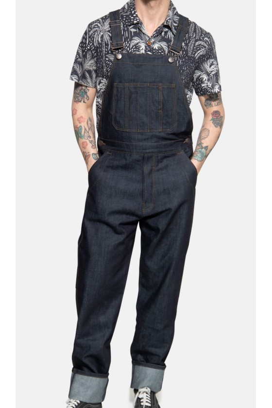 DUNGAREES IN WORKWEAR STYLE...