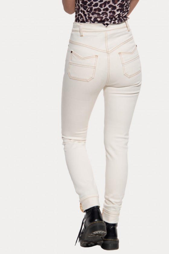 HIGH WAIST SLIM FIT JEANS BETTY (white)