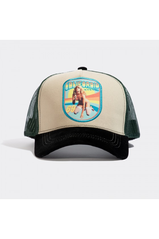 TRUCKER CAP CALIFORNIA (beige)