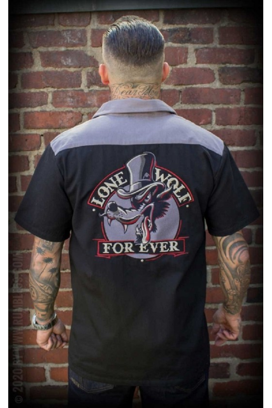WORKER SHIRT LONE WOLF FOREVER (black)
