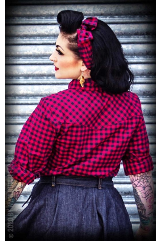 VICHY BLOUSE CHARMING CHECK (red)