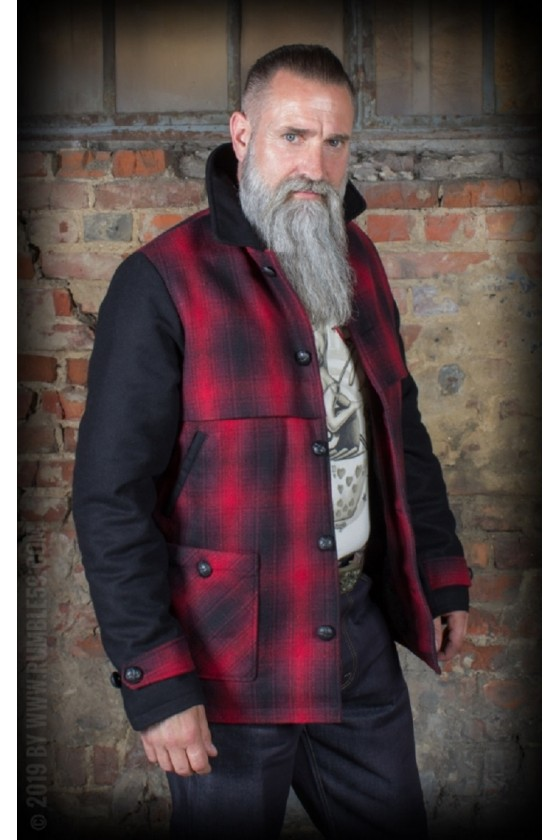 CHECKED JACKET RED ROCK (black)