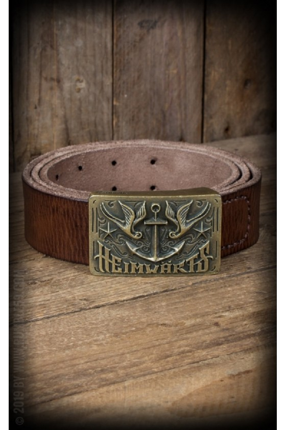 LEATHER BELT WITH A BUCKLE (brown)