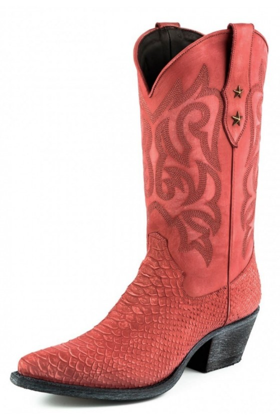 WOMEN'S BOOTS ALABAMA (washed red)