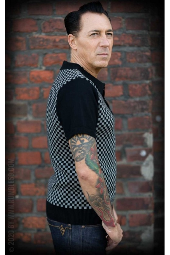 KNITTED POLO SHIRT INDIANAPOLIS (black/gray)