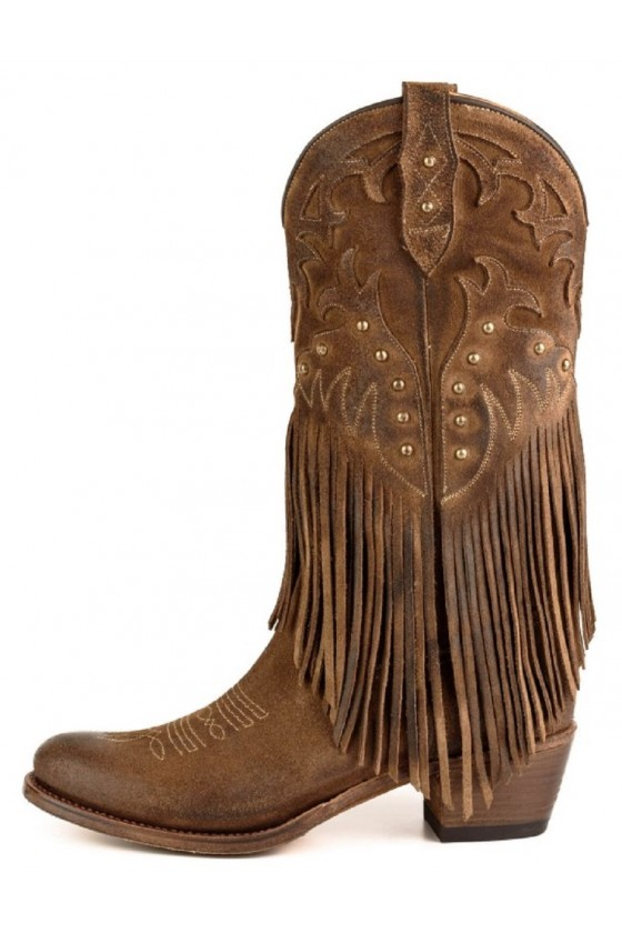 WOMEN'S BOOTS WITH FRIDGES 2475 (brown)