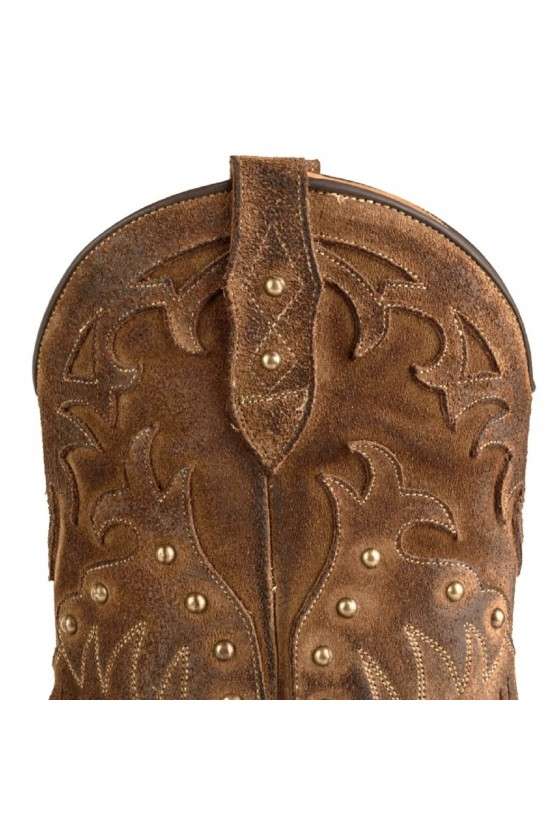 WOMEN'S BOOTS WITH FRIDGES 2475 (tabaco brown)