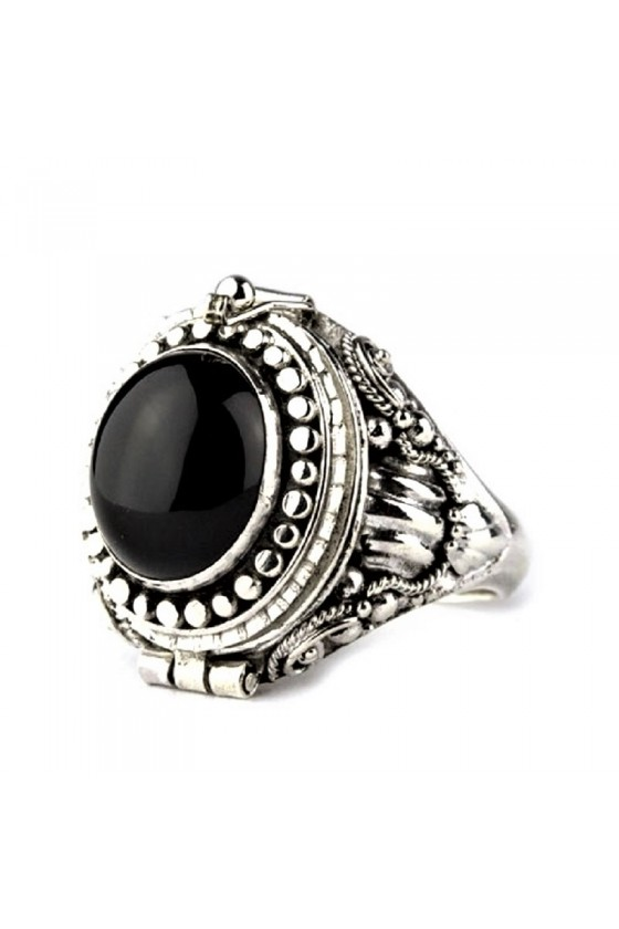 SILVER POISON RING