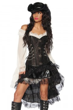 Pirate Steampunk Corset (black)